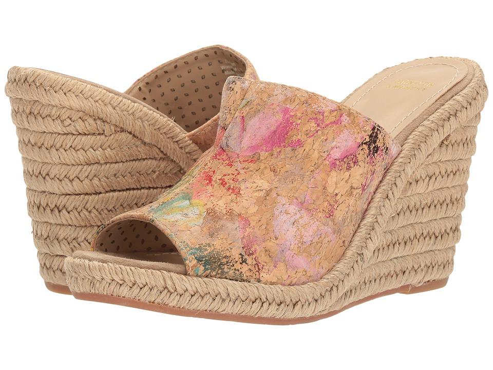 Johnston & Murphy - Myrah (Natural Cork/Floral Print) Women's Wedge Shoes