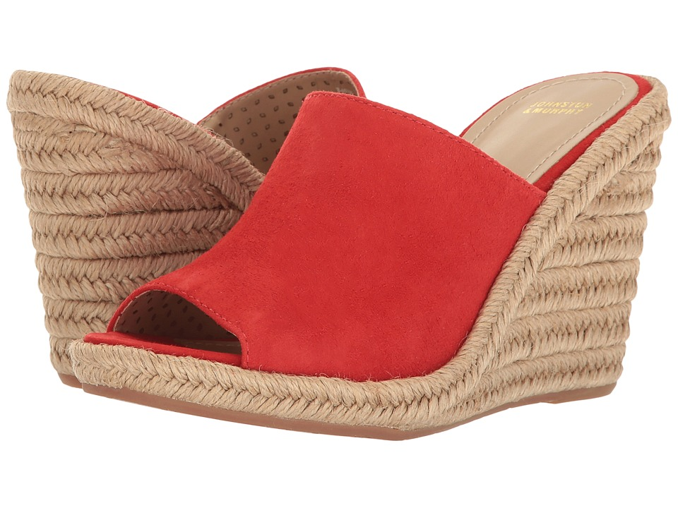 Johnston & Murphy - Myrah (Red Kid Suede) Women's Wedge Shoes