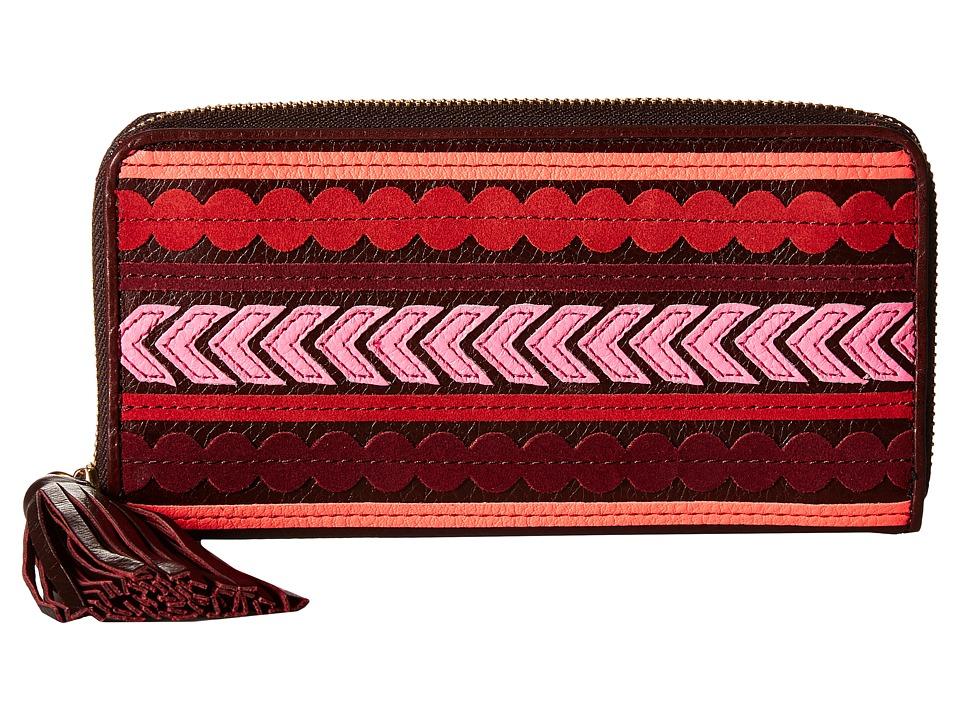 Fossil - Emma Large Zip Clutch RFID (Red Multi) Clutch Handbags