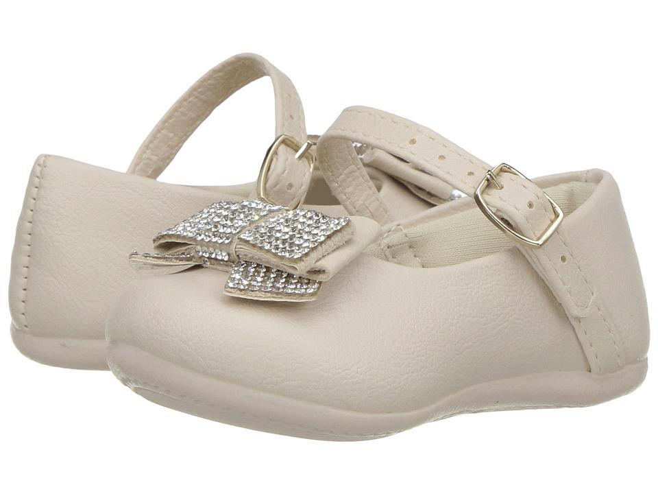 Pampili - Angel 4805 (Infant/Toddler) (Beige) Girl's Shoes