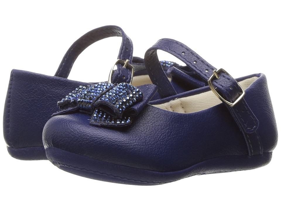 Pampili - Angel 4805 (Infant/Toddler) (Navy) Girl's Shoes