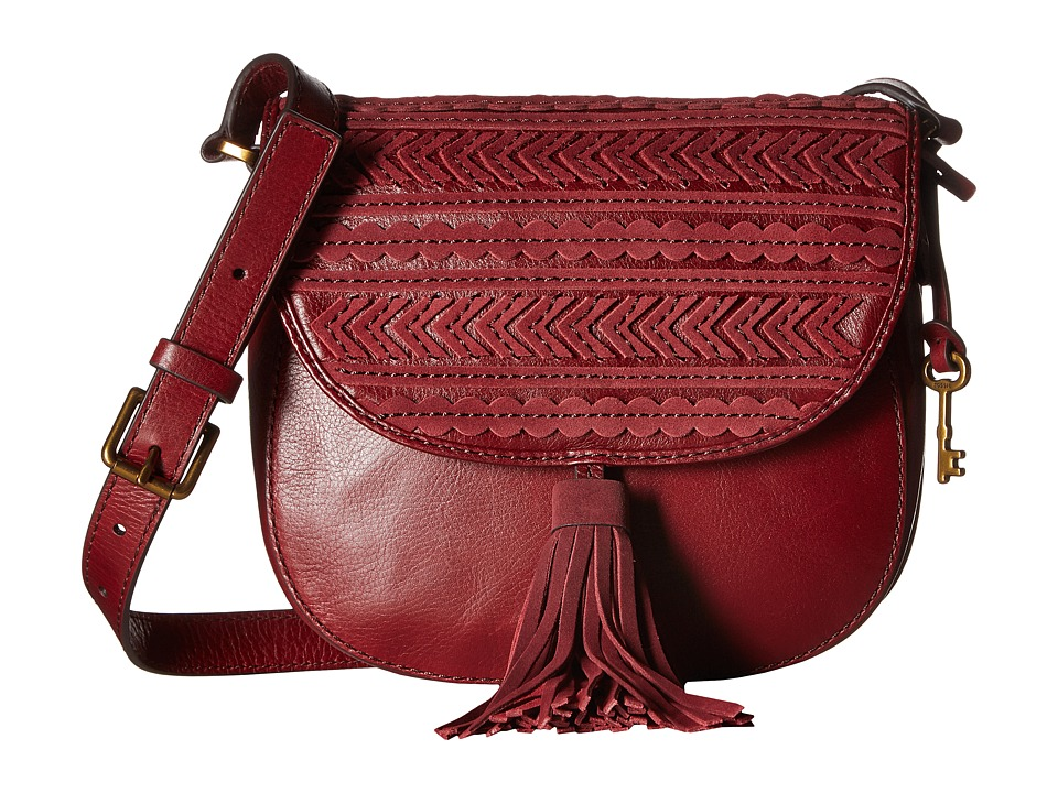 Fossil - Emi Tassel Saddle Bag (Wine) Bags