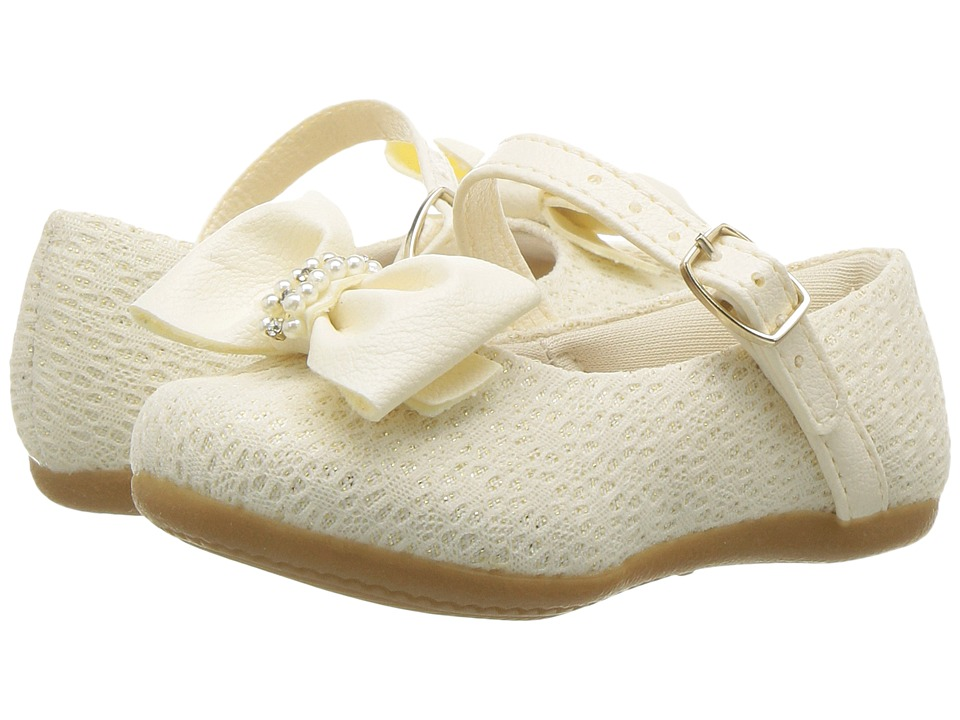 Pampili - Angel 4816 (Infant/Toddler) (Tapioca) Girl's Shoes