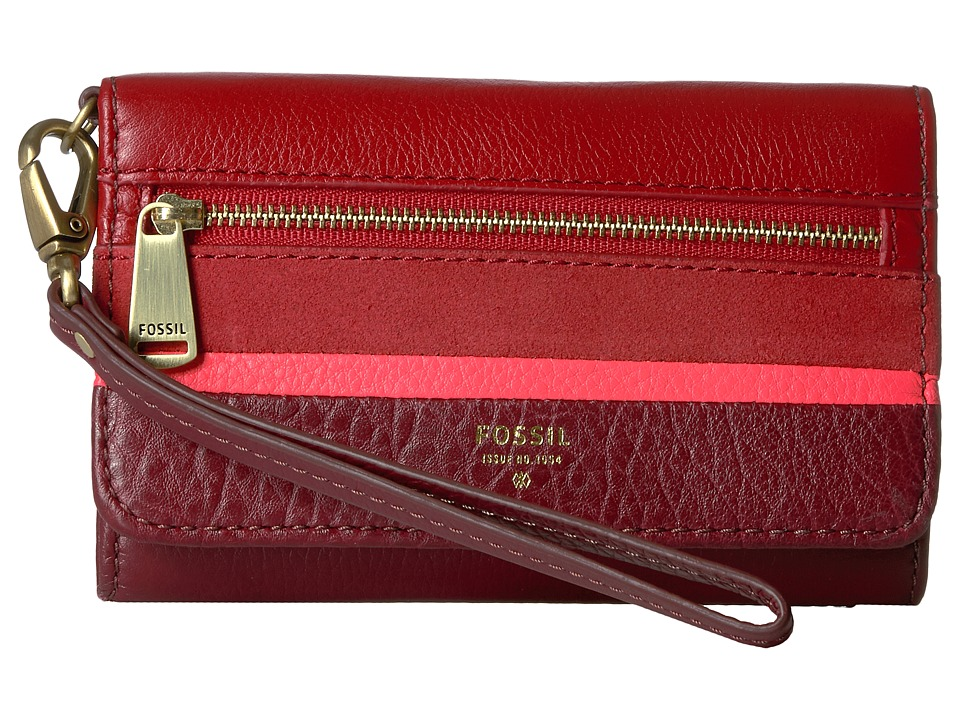 Fossil - Preston Phone Multifunction RFID (Crimson) Wallet