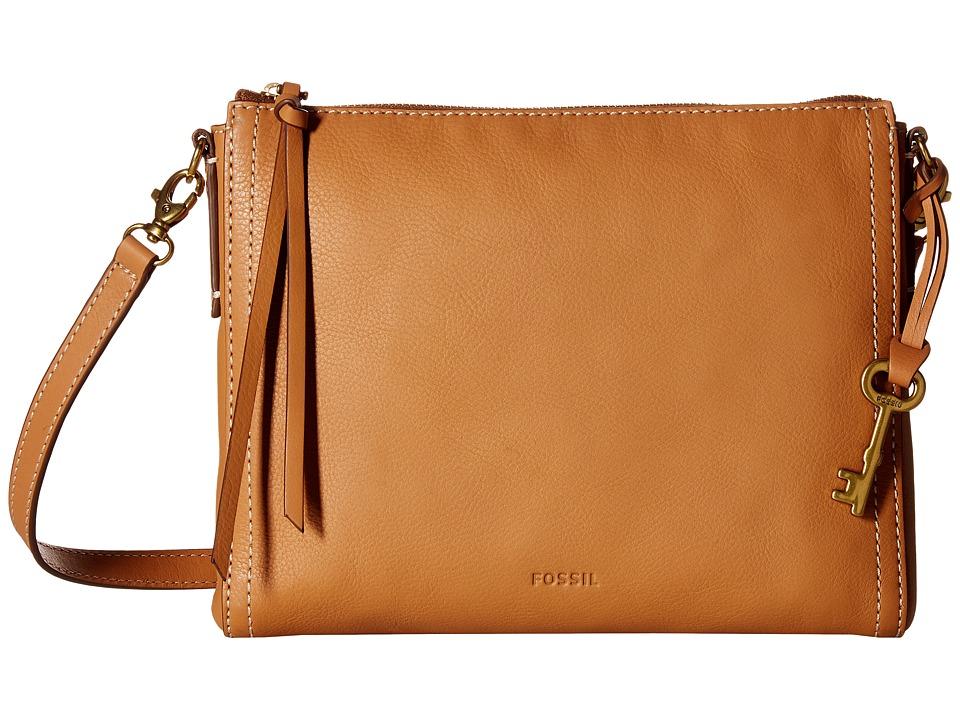 Fossil - Emma East/West Crossbody (Tan) Cross Body Handbags
