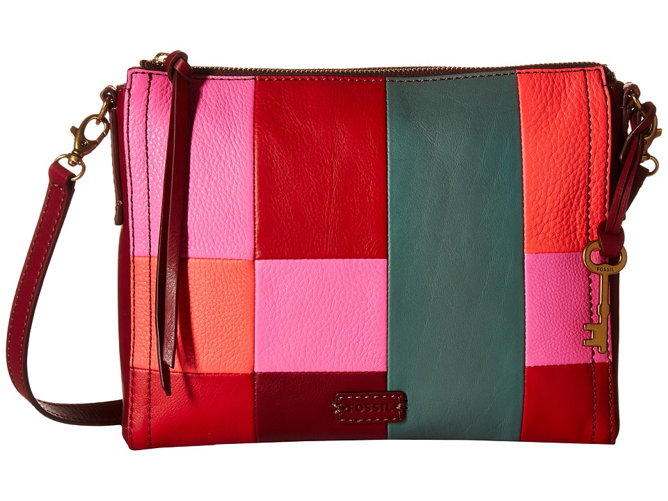 Fossil - Emma East/West Crossbody (Bright Patchwork) Cross Body Handbags
