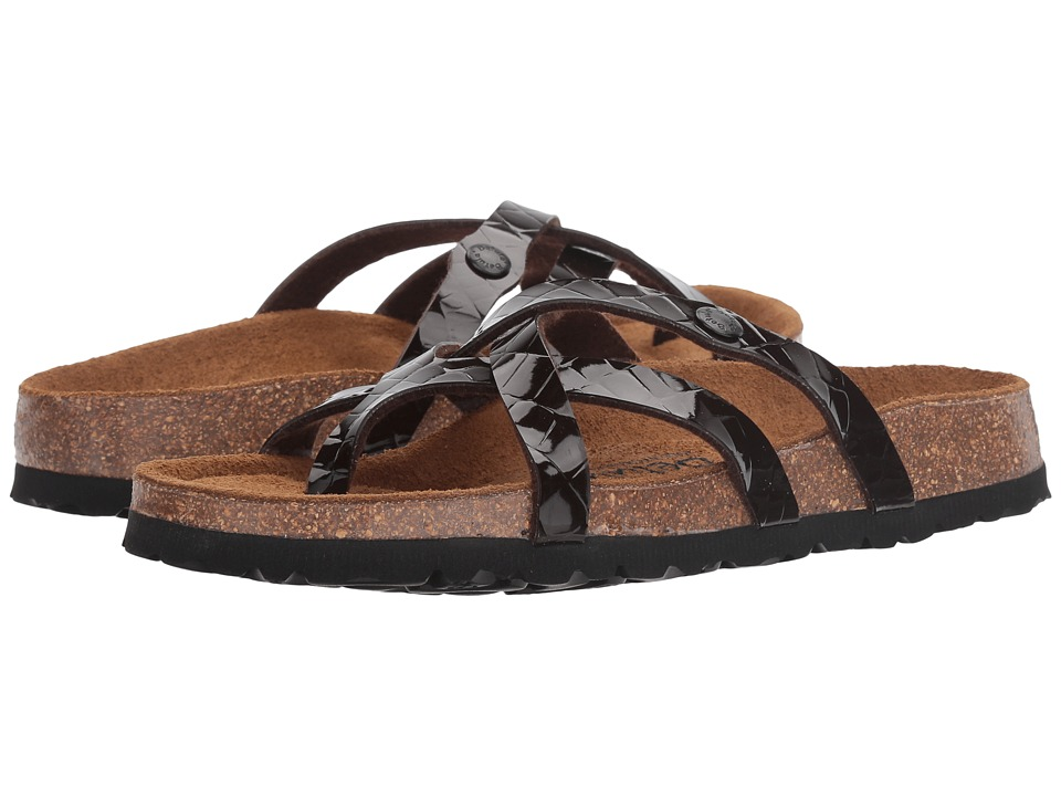 Image of Betula Licensed by Birkenstock - Vinja (Croko Embossed Brown) Women's Shoes