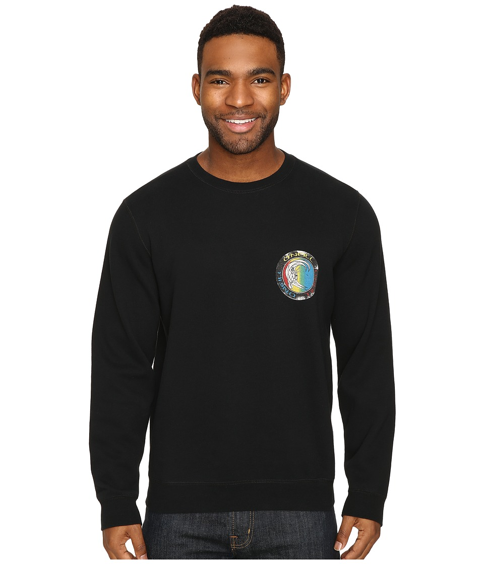 O'Neill - Originals Disorder Crew Fashion Fleece (Black Print) Men's Fleece