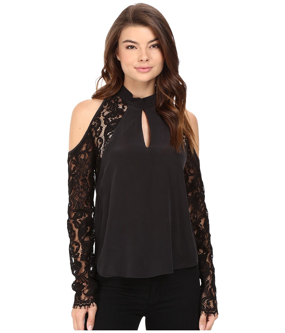Nicole Miller - Kendall Cold Shoulder Blouse (Black) Women's Blouse