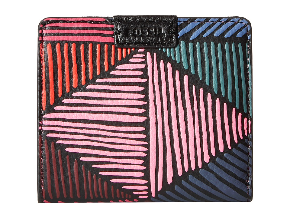 Fossil - Emma Mini Wallet RFID (Pink Multi) Wallet Handbags