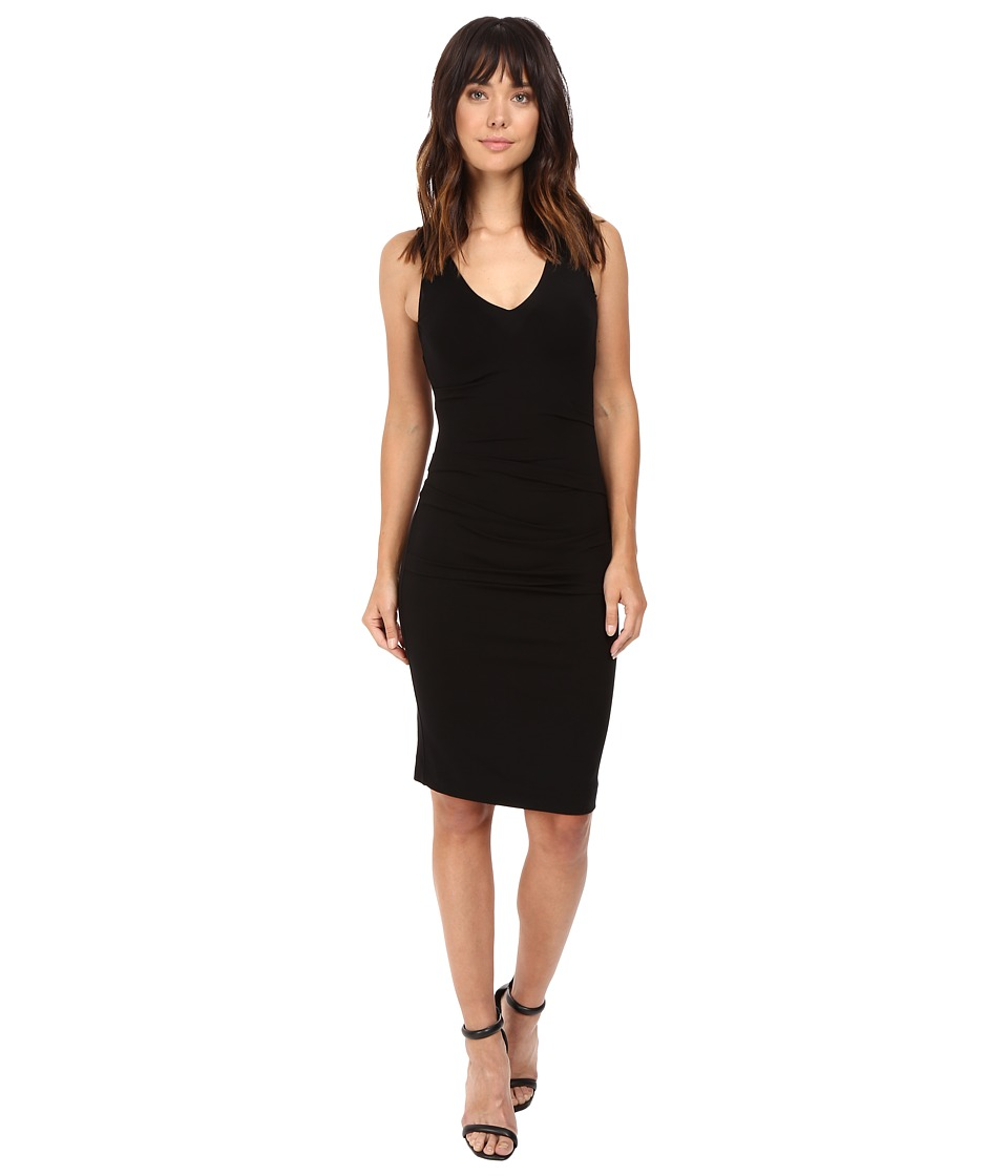 Nicole Miller Classic Hip Tuck Jersey Dress (Black) Women