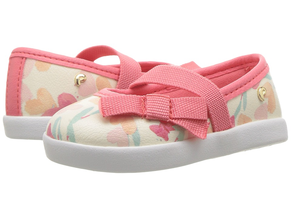 Pampili - Pom Pom 108045 (Infant/Toddler) (Tapioca/Pink) Girl's Shoes