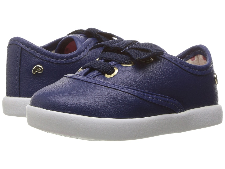 Pampili - Pom Pom 108037 (Infant/Toddler) (Navy) Girl's Shoes