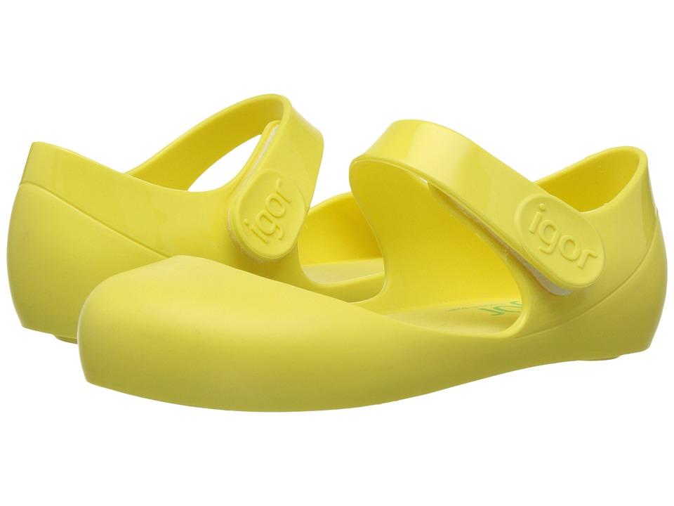 Igor - Mia (Infant/Toddler/Little Kid) (Yellow) Girl's Shoes