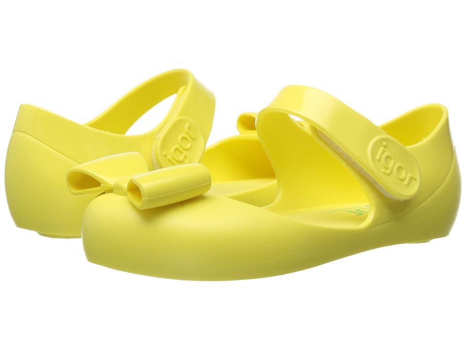 Igor - Mia Lazo (Infant/Toddler/Little Kid) (Yellow) Girl's Shoes