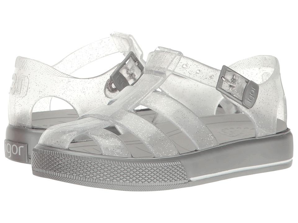 Igor - Tenis (Toddler/Little Kid) (Silver Glitter) Girl's Shoes