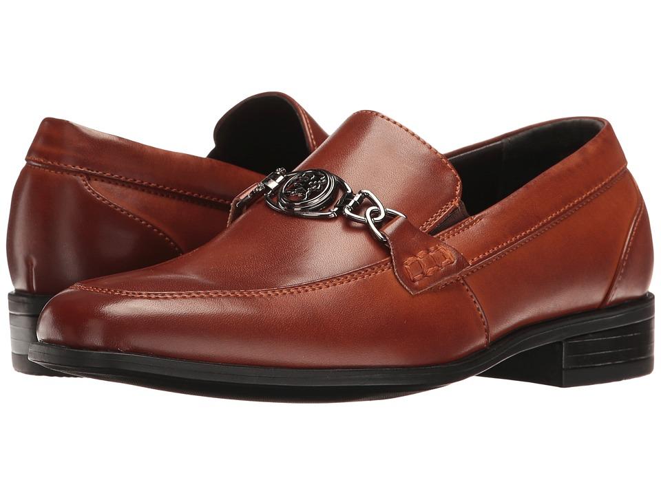 Stacy Adams Kids Spencer Moc Toe Bit Slip-On (Little Kid/Big Kid) (Cognac) Boys Shoes