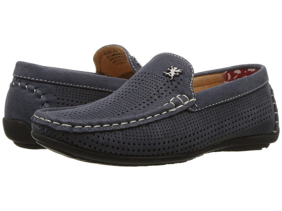 Stacy Adams Kids - Pippin - Perfed Driving Moc (Little Kid/Big Kid) (Navy) Boy's Shoes
