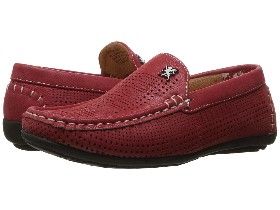 Stacy Adams Kids - Pippin - Perfed Driving Moc (Little Kid/Big Kid) (Red) Boy's Shoes