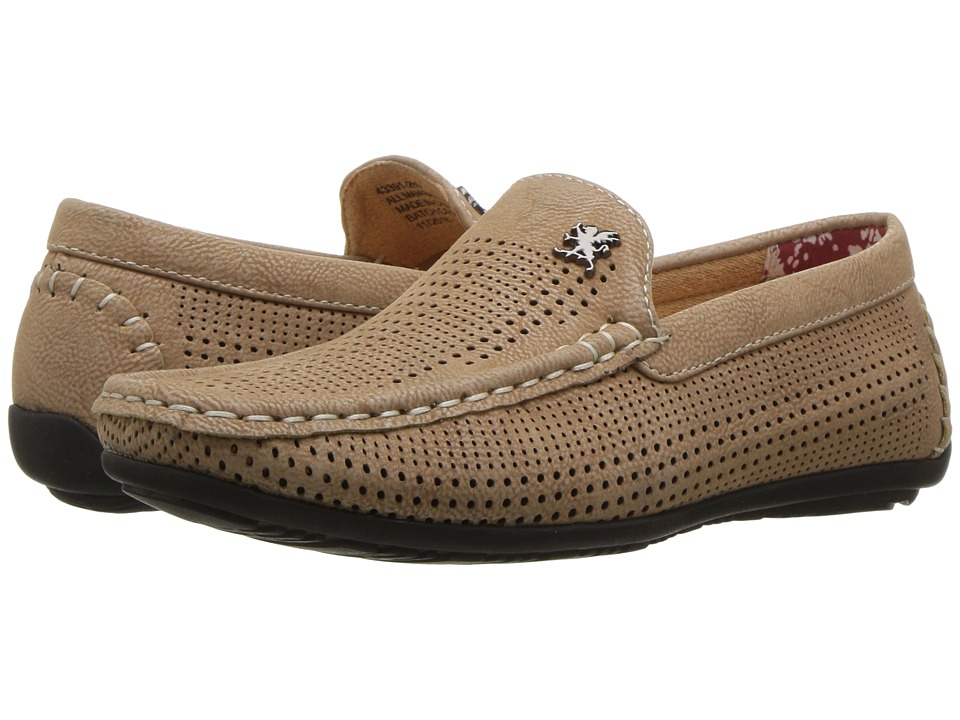 Stacy Adams Kids - Pippin - Perfed Driving Moc (Little Kid/Big Kid) (Taupe) Boy's Shoes