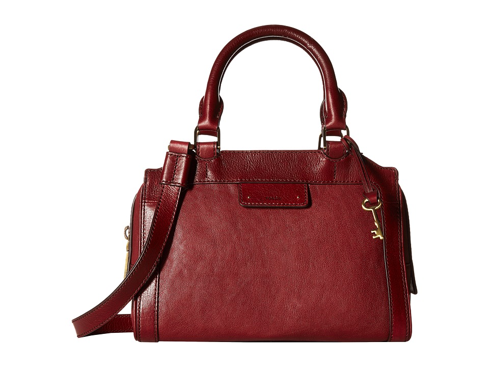 Fossil - Logan Small Satchel (Wine) Satchel Handbags