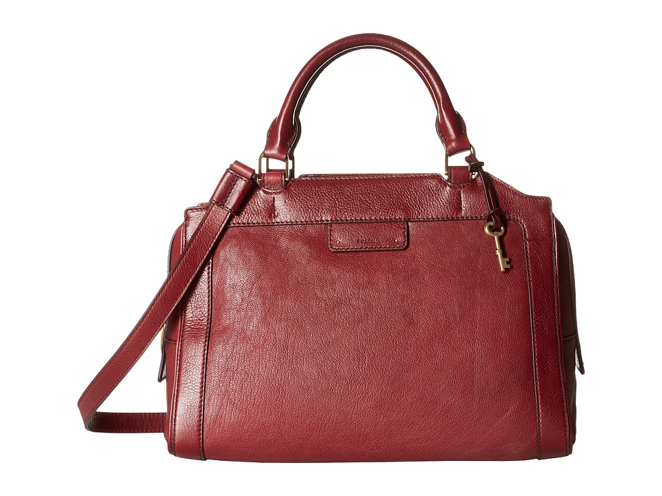 Fossil - Logan Large Satchel (Wine) Satchel Handbags