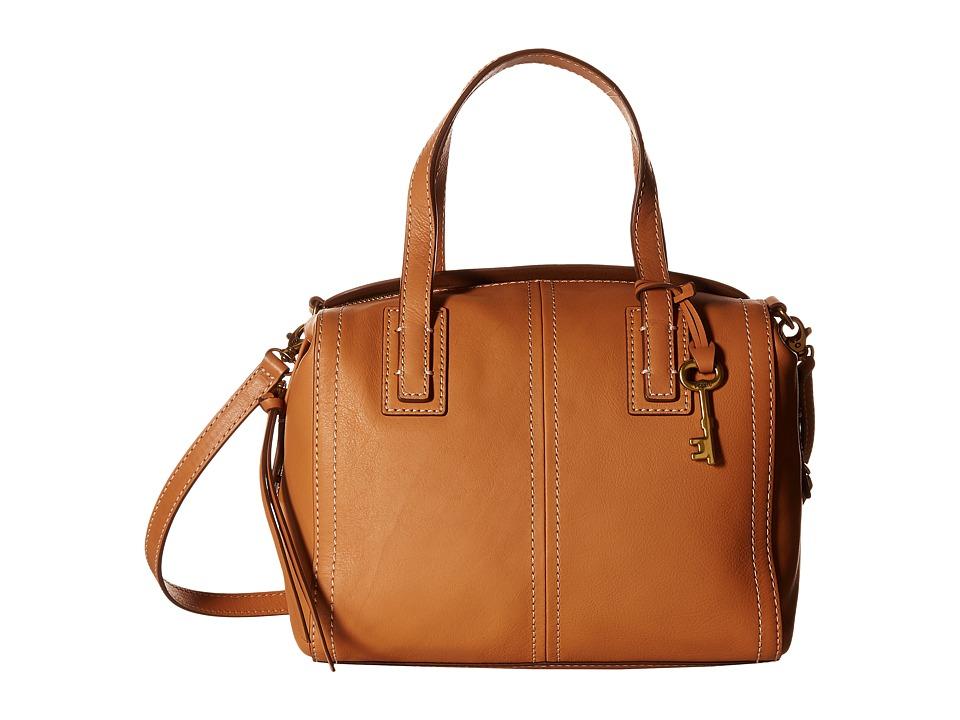 Fossil - Emma Satchel (Tan) Satchel Handbags