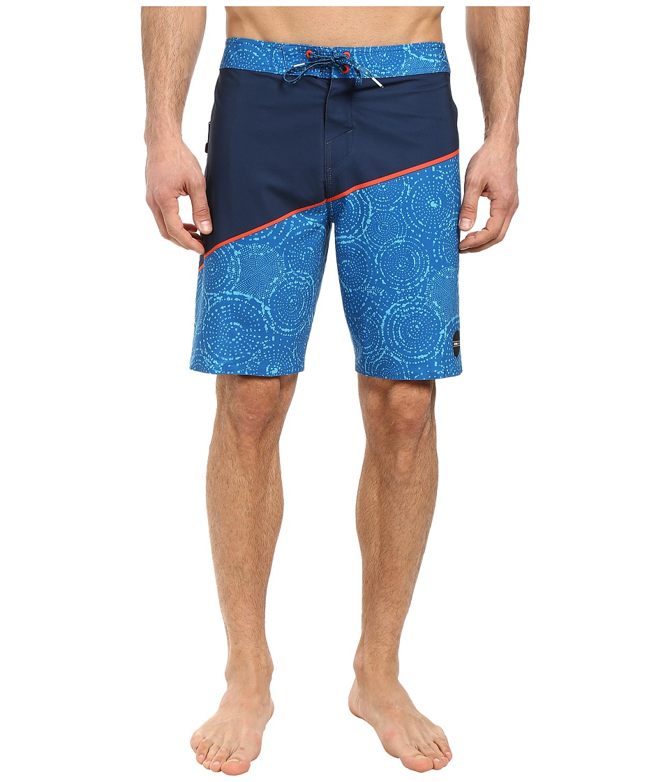 O'Neill - Hyperfreak Oblique 3 Boardshorts (Navy) Men's Swimwear