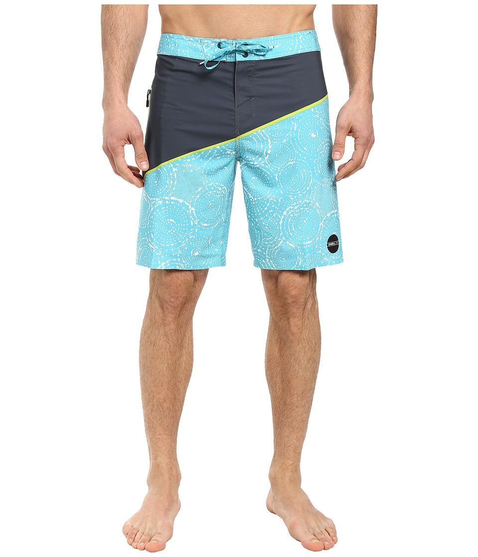 O'Neill - Hyperfreak Oblique 3 Boardshorts (Turquoise) Men's Swimwear