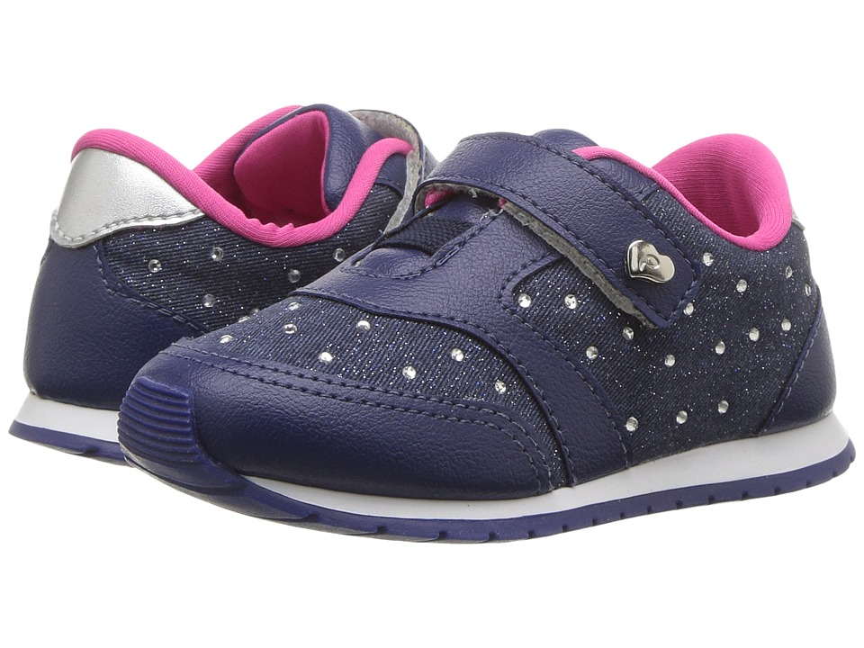 Pampili - Mini Joy 135014 (Toddler/Little Kid) (Navy) Girl's Shoes