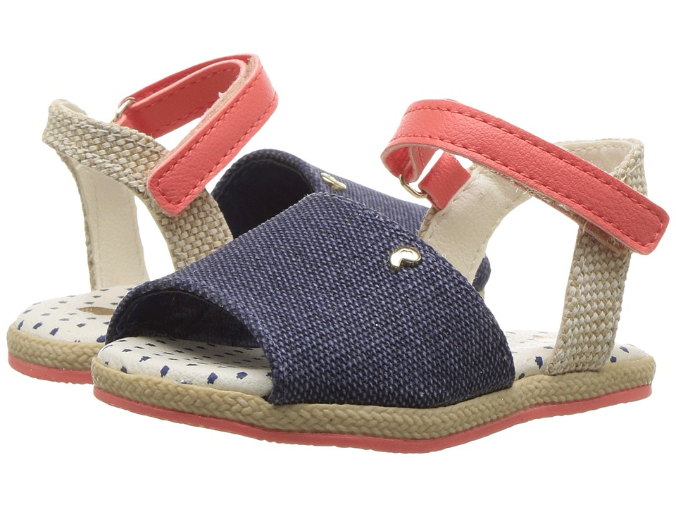 Pampili - Flor Espadrille 163001 (Toddler) (Navy) Girl's Shoes