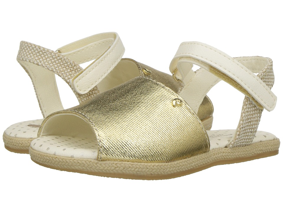 Pampili - Flor Espadrille 163001 (Toddler) (Gold) Girl's Shoes