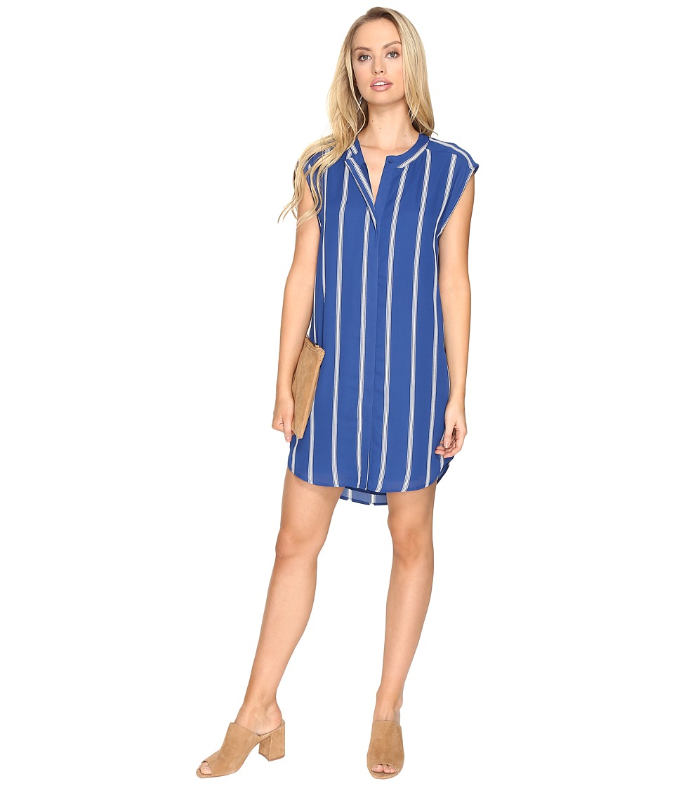 BB Dakota - Zea Virtical Stripe Dress (Indigo) Women's Dress