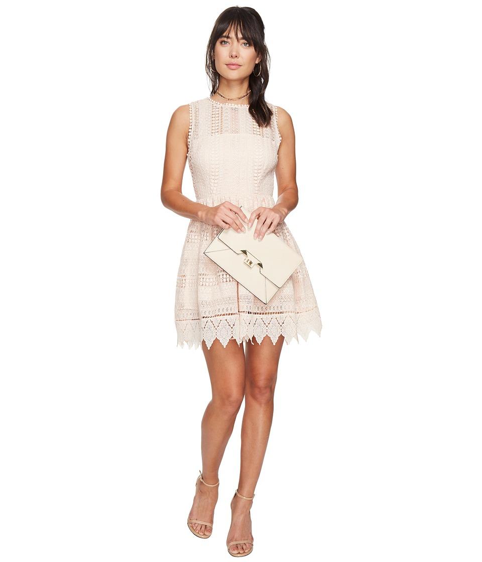 BB Dakota - Elissa Lace Fit N Flare Dress (Peach Blossom) Women's Dress
