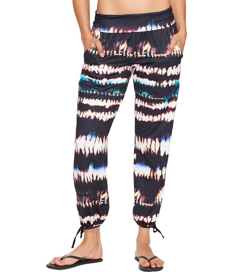 Lucy - Yoga Flow Pants (Multi Fire Dance Print) Women's Workout