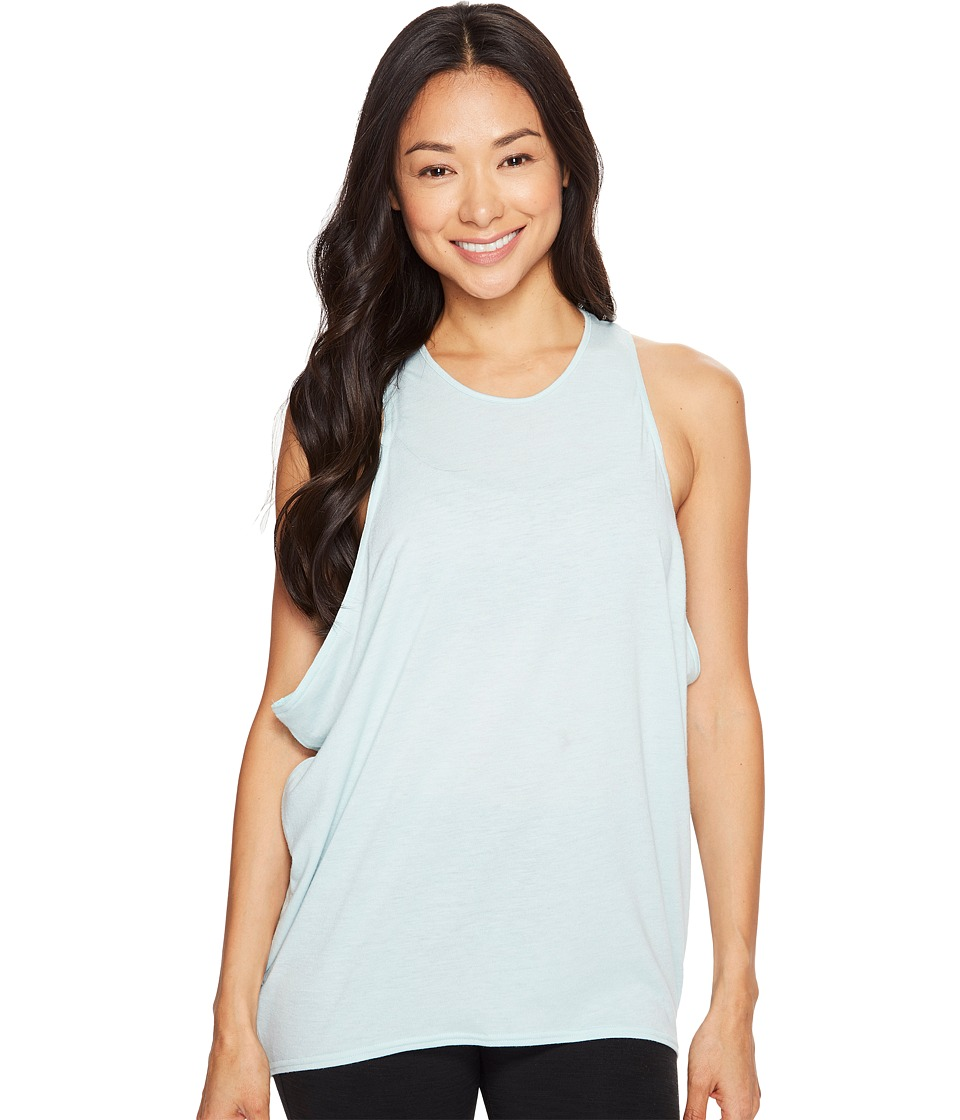 Lucy - Keep Calm Tank Top (Washed Blue) Women's Sleeveless