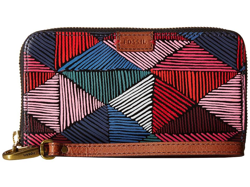 Fossil - Emma Smartphone Wristlet RFID (Pink Multi) Wristlet Handbags