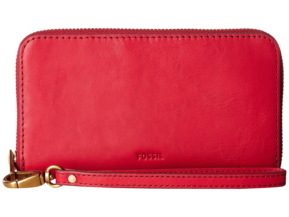 Fossil - Emma Smartphone Wristlet RFID (Crimson) Wristlet Handbags