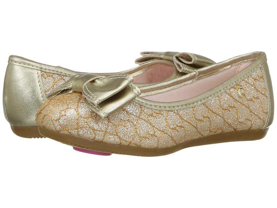 Pampili - Twist 224057 (Toddler/Little Kid/Big Kid) (Gold) Girl's Shoes