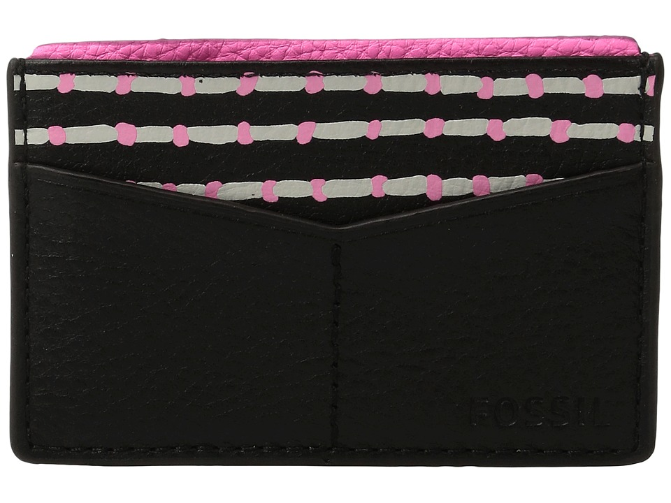 Fossil - Card Case (Black Stripe) Wallet