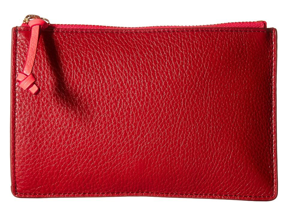 Fossil - Small Pouch (Crimson) Clutch Handbags