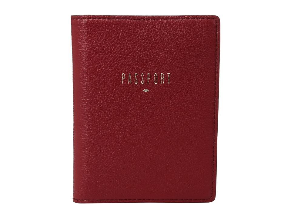 Fossil - RFID Passport Case (Crimson) Wallet