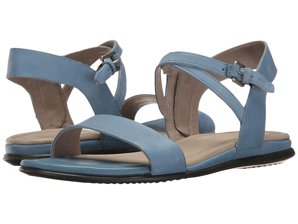 ECCO - Touch Ankle Sandal (Retro Blue Cow Nubuck) Women's Sandals