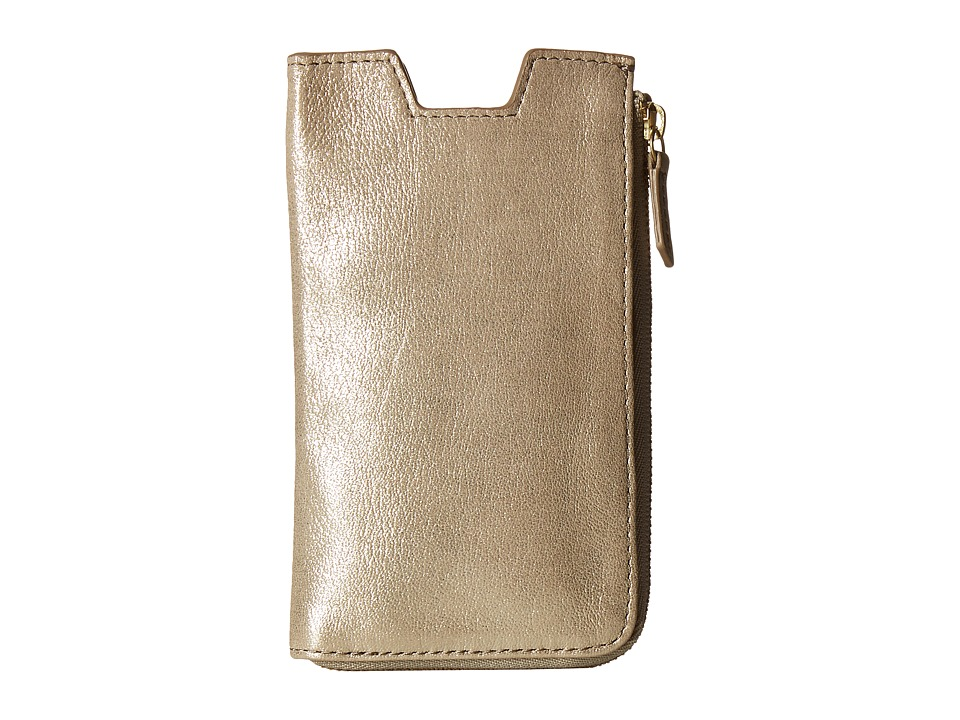 Fossil - Phone Slide Wallet (Taupe Metallic) Wallet Handbags