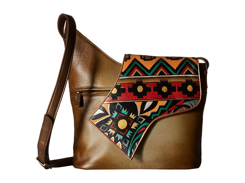 Anuschka Handbags - 257 Small Asymmetric Flap Bag (Antique Aztec) Handbags