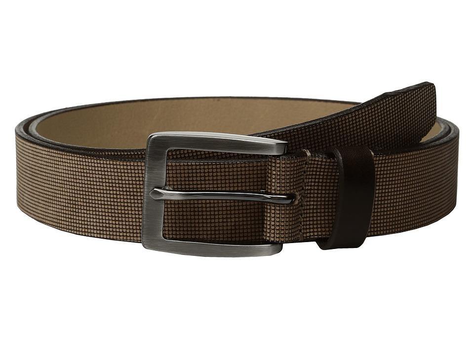 Johnston & Murphy - Perf Casual Belt (Cream) Men's Belts