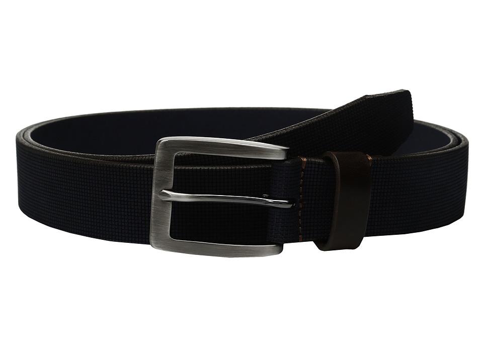 Johnston & Murphy - Perf Casual Belt (Navy) Men's Belts