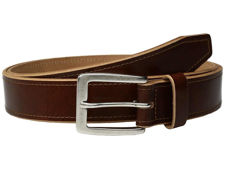 Johnston & Murphy - Raw Edge Single Stitch (Tan) Men's Belts