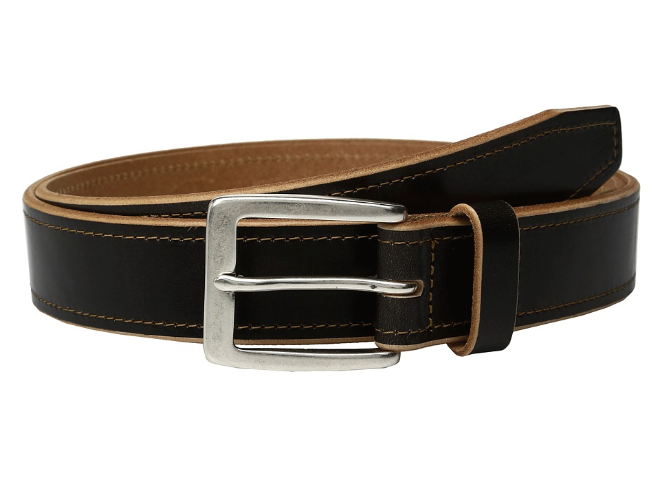 Johnston & Murphy - Raw Edge Single Stitch (Black 1) Men's Belts