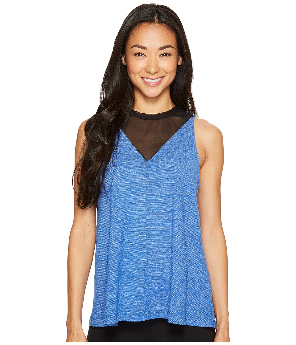 Lucy - Manifest Mesh Tank Top (Curacao Micro Stripe) Women's Sleeveless
